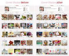 Pinterest Board Cover Photo Before and After, how to change board cover