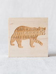 Bear Return Address Custom Stamp | Sycamore Street Press