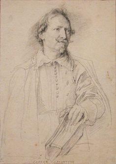 Anthony van Dyck Gaspar Gevaerts, ca. Black chalk, incised for transfer 10 in. Anthony Van Dyck, Sir Anthony, Potrait Painting, Portrait Art, Life Drawing, Figure Drawing, Rennaissance Art, Renaissance, Van Life Blog