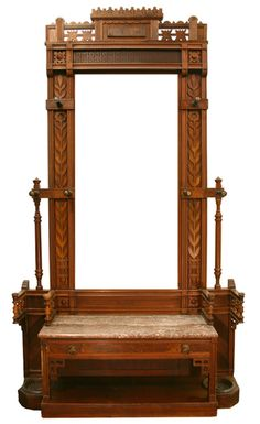 Late 19th century hall stand.
