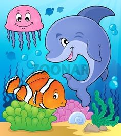 Ocean fauna topic image 2 - picture illustration.