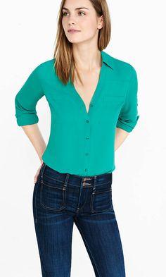 Slim Fit Convertible Sleeve Portofino Shirt   Express