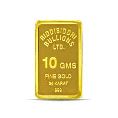 10 Gms 24 KT Gold Bar 999 Purity