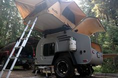 TerraDrop: Off Road Capable, Overland -inspired Teardrop Trailer. Built for Adventure! - Oregon Trail'R - Teardrop Trailers and Accessories Camping Jokes, Truck Camping, Camping World, Camping List, Off Road Camper Trailer, Camper Trailers, Campers, Trailer Build, Off Road Camping
