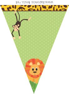 kit festa safari bandeirolas
