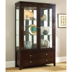 Steve Silver Wilson Curio Cabinet - Espresso