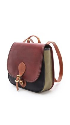 the cutest colorblock leather backpack