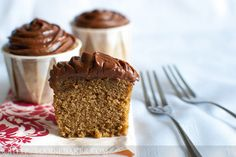 Vietnamese Coffee Cupcakes with Mocha Buttercream Frosting by Foodie Baker, via Flickr