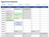 Free Weekly Schedule Templates For Excel  Schedule Templates