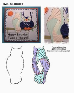 Iris Folding Templates, Iris Paper Folding, Iris Folding Pattern, Origami Folding, Owl Patterns, Paper Piecing Patterns, Card Patterns, Quilt Patterns, Paper Cards