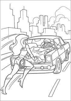 Free & Easy To Print Wonder Woman Coloring Pages - Tulamama Fruit Coloring Pages, Skull Coloring Pages, Cool Coloring Pages, Free Printable Coloring Pages, Coloring Books, Wonder Woman, Superhero Coloring, Mandala, Activities For Kids