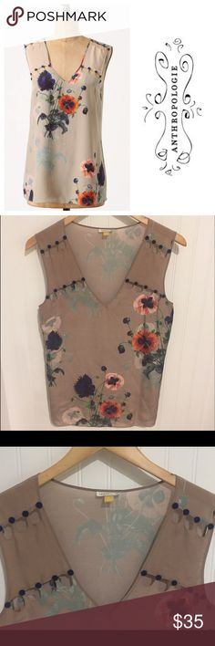 Anthropologie Leifsdottir cut out floral Top 2 Size 2. Made of 100% silk. Worn and dry cleaned a few times. In excellent condition. See my closet for more great deals on designer listings. 15% off three or more items. Anthropologie Tops Blouses