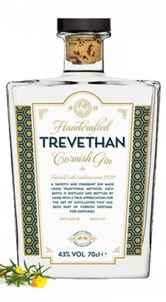 Shop for Trevethan Cornish Gin. Starting from Compare live & historic spirit prices. Rum Bottle, Liquor Bottles, Gin Tasting, Gin Gifts, Gin Recipes, Dry Gin, Scotch Whiskey, Gin And Tonic, Bottle Design