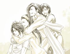 Squall and Raine and Laguna and Ellone.