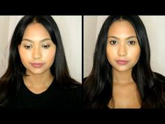 How to Get Rid of Neck Fat: 7 Double Chin Exercises & Makeup Tutorials Double Chin Exercises, Neck Exercises, Facial Exercises, Bangs For Round Face, Round Face Haircuts, Hairstyles For Round Faces, Easy Hair Cuts, Facial Yoga, Square Face Hairstyles