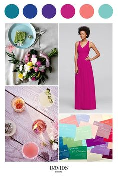 For a bright and bold wedding, only jewel toned colors will do! Shop these bridesmaid shades in the perfect bridesmaid style at David's Bridal