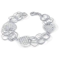 Italian Sterling 925 heart bracelet Italian Sterling Silver Laser Cut Heart Bracelet with Bracelet Dimension of 18MMx178MM, chk avail,  SS2511HC Jewelry Bracelets