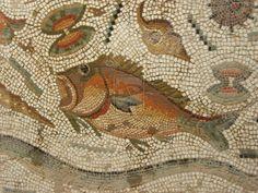detail of a rich maritime mosaic from Bulla Regia, Tunisia by ~Uneaskan