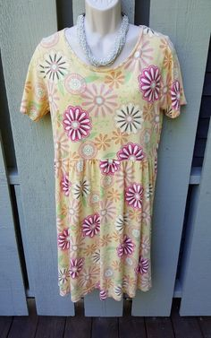 Fresh Produce Summer Sun Beach Dress L Gold Floral | Clothing, Shoes & Accessories, Women's Clothing, Dresses | eBay!