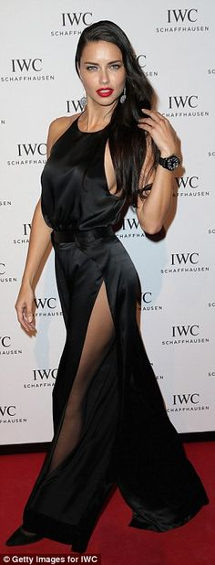 Adriana Lima flaunts her sideboob at star-studded gala in Geneva | Daily Mail Online