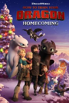 This holiday season, we're celebrating Snoggletog! httyd Homecoming, an all-new holiday special featuring the original voice cast, is coming to nbc on December ( Hiccstrid, Hiccup and Astrid ) Dragons Le Film, Httyd Dragons, Dreamworks Dragons, Disney And Dreamworks, Dreamworks Movies, Hiccup And Toothless, Hiccup And Astrid, Dreamworks Animation, How To Train Dragon