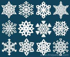 Paper Snowflakes free printable pattterns