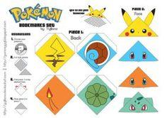 Pokemon Bookmarks Set [DOWNLOAD] by yujilono