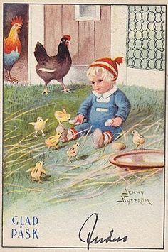 peintre illust jenny nystrom - Page 4 Easter Art, Hoppy Easter, Vintage Postcards, Vintage Images, Spring Banner, Munier, Happy Easter Day, Easter Parade, Small Boy