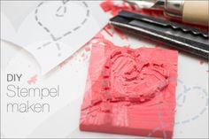 DIY Stempel maken met een knutselspullen van de HEMA.
