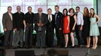 Capitol CMG Music Publishing accepts their Publisher of the Year Award at the 2014 BMI Christian Awards.