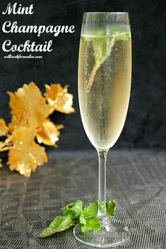 Mint Champagne Cocktail