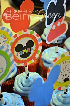 Mickey-Mouse-Clubhouse-Birthday-Party-Cupcakes