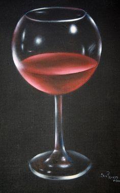Art Apprentice Online - Red Wine Glass Still Life - Painting Pattern - Sue Pruett MDA, $9.95 (http://store.artapprenticeonline.com/how-to-paint-glass-red-wine-glass-still-life-sue-pruett-)