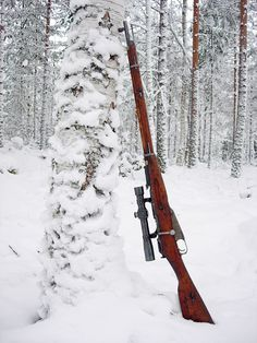 Russian sniper rifle, Mosin Nagant 91/30 with scope.