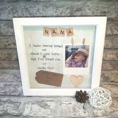 Personalised Grandma Frame, Gift For Nanna, Present For Grandma, Birthday Gift Mom, Present For Moth Bday Gifts For Him, Birthday Gifts For Grandma, Birthday Gift Baskets, Great Birthday Gifts, Diy Birthday, Gifts For Mom, Handmade Gifts For Grandma, Birthday Souvenir, Christmas Gifts For Grandma