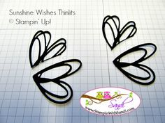 Sunshine Wishes Thinlits butterfly by Sandi @ www.stampinwithsandi.com