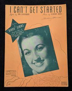 I Can't Get Started Vintage Sheet Music Featured by   Etsy Vintage Sheet Music, Vintage Sheets, Vintage Items, Vintage Jewelry, I Cant, Etsy Jewelry, Vintage Jewellery, Antique Jewellery