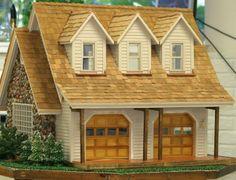 dollhouse with 2-car garage