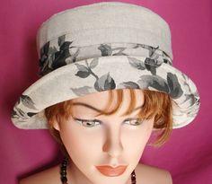 Cloche  Summer Hat  Garden Hat Beach Hat  Linen by MermaidsHatbox