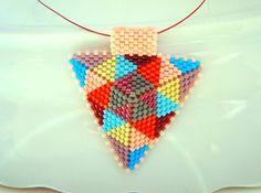 Modern Geometric Jewelry Patchwork Beadwoven by BeadingTimes