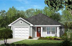 Narrow Lot Cottage Home Plan - 11739HZ   Architectural Designs - House Plans