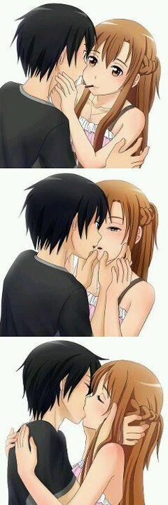 Yo quiero un beso así <3