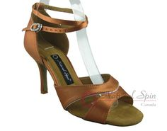 Natural Spin Signature Latin Shoes(Open Toe):  H1158-01_DrTanS