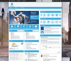 uMedia - the background image is striking, and the rest of the design can be kept very simple.