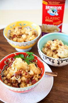 Roasted Cauliflower and Bacon Mac and Cheese