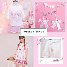 "【peilieeshop】さんのInstagramをピンしています。 《🎀Peiliee Weekly Deals🎀 Each week we are going to have 20% off 4 products💕 Week 39:  1. [Cream Made] Magic bunny lace band top  2. Fairy angel double bow tie waist band 3. Angel in my strawberry garden dress  4. My bunny needs carrots top Use code: ""PeilieeWeeklyDeal"" to get 20% off these 4 items for this week!  Official webshop: www.Peiliee.com (Link in bio) #PeilieeShop #Sakura #fairykei #fairy #dreamy #princess#cherryblossom #cherry #kawaiigirl…"