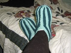 Knitted Slippers, Couture, Knitting, Shoes, Hui, Images, Fashion, Rope Basket, Wool