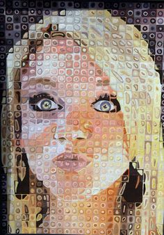 grade and up-Art Lesson Plan: Chuck Close Grid. grade and up-Art Lesson Plan: Chuck Close Grid Drawing-have seen this done and it looks awesome. Middle School Art Projects, Art School, 8th Grade Art, 3d Studio, School Painting, High Art, Art Lesson Plans, Art Classroom, Art Club