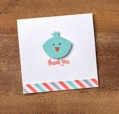The Fox Builder Punch makes more than just foxes. Look at this adorable little bird! #stampinup