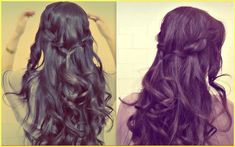 ★EASY PROM HALF-UP UPDO |HOW TO WATERFALL ROPE BRAID HAIRSTYLES FOR MEDIUM LONG HAIR TUTORIAL, via YouTube.